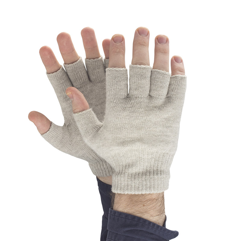 Fingerless Silver Gloves